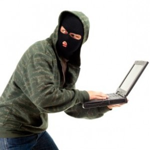 stealing laptop computer