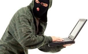 stealing laptop computer