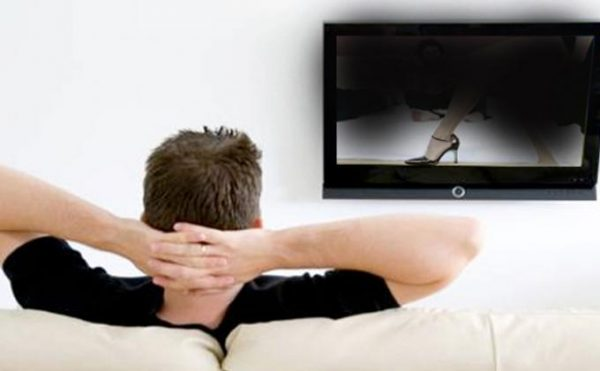 man-watching-porn-film